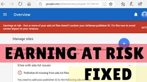 fixed one or more of your ads txt files does not conn your adsense publisher id in wordpress gadget gyani