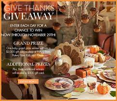 thanksgiving giveaway pottery barn gift cards