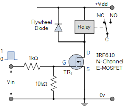 relay switch circuit and relay switching circuit n channel mosfet relay switch circuit