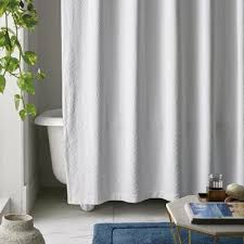 exclusivesline matelasse 72 in white cotton shower curtain