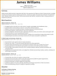Sample Resume For Healthcare Assistant. Free Medical Assistant ...