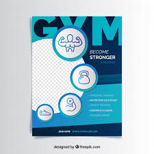 Style Template Gym Flyer Template With Modern Style Vector Free Download
