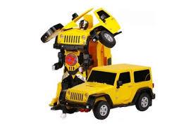 <b>Радиоуправляемый</b> робот трансформер Jeep Rubicon Yellow 1 ...