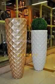 ... Modern Designing Entryway Accessories Mesh Diamond Large Floor Vase  Perfect Finishing Sample Clearance Decorating Room White Color Stand Out ...
