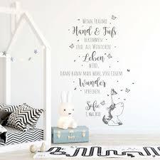 Wandtattoo Babyzimmer Spruch Einhorn Zitat Schmetterlinge