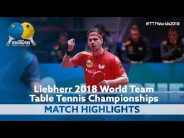 2018 world team championships highlights timo boll vs jeoung youngsik 1 2 you