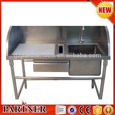 high quality commercial stainless steel fish cleaning table with sink fish cleaning table stainless steel fish cleaning table stainless steel fish
