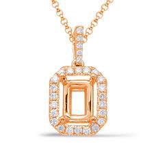 s kashi sons diamond pendant for 6x4mm emerald cut