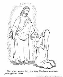 Easter Bible Coloring Pages Jesus Appears To Mary Honkingdonkey