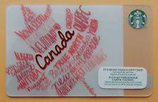 starbucks canada maple leaf collectible gift card 2016 edition