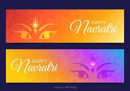 free happy navratri vector banners