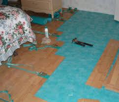 Glued Together Pergo Laminate Flooring