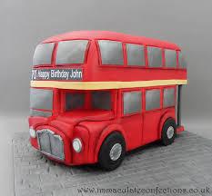 Red London Bus Birthday Cake Cakes By Natalie Porter