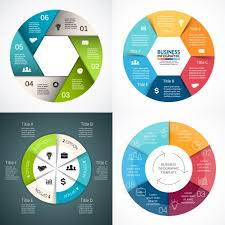 Round Infographic Diagram Collection Free Vector Vector