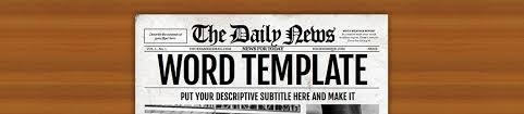 Newspaper Template For Photoshop Newspaper Templates For Word Photoshop Illustrator Indd