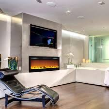 electric log heater for fireplace. Regal Flame Lexington 35 Inch Built-in Ventless Heater Recessed Wall Mounted Electric Fireplace - Log For E