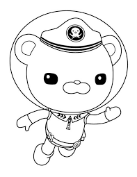 Small Picture Captain Barnacles Swim in The Octonauts Coloring Page Download