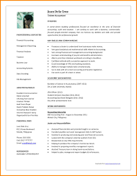 Accounting Resume Templates Word Free Resume