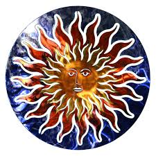 on southwest outdoor metal wall art with 3d sun face metal outdoor wall art hayneedle