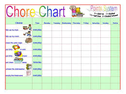 Money Chart For Kids Printable Chore Chart Templates For Kids Sada Margarethaydon Com