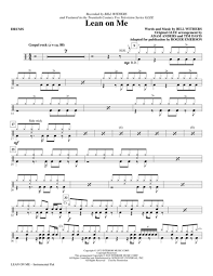 drum set sheet music download lean on me drums sheet music by bill withers sheet