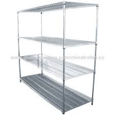 china adjule wire shelving unit in chrome plated
