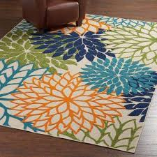 aloha multicolor 8 ft x 11 ft indoor outdoor area rug