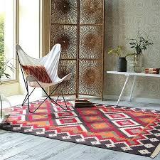 handmade rugs from india wool handmade carpet geometric rug plaid striped modern contemporary tapestry mat design
