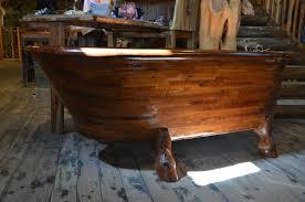 Antique Design of Freestanding Claw Foot Wooden Bathtub Idea in ...