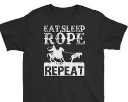 eat sleep rope repeat youth t shirt rodeo roping shirt funny rodeo apparel western gifts cowboy cow t shirt team ropers tee