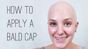 how to apply and paint a plastic bald cap
