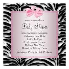 Zebra Baby Shower Invitation Hot Pink Zebra Invitation HotPink Zebra Baby Shower Invitations
