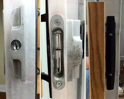 replacing keyed door hardware on a sliding glass patio door