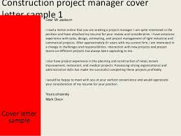 Ideas Of Cover Letter For Civil Project Manager About Construction
