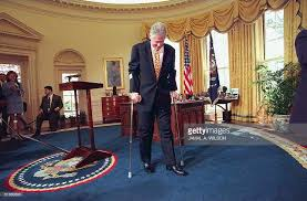 president oval office. US President Bill Clinton Leaves The Oval Office Of White House 27 March Following A R