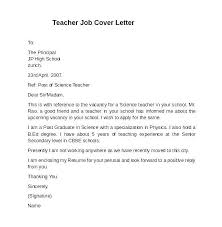 Example Cover Letter For Teaching Position Cover Letter For Teaching Position Sample Cover Letters For
