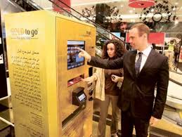 Gold Bar Vending Machine Mesmerizing Proving Its Metal Dubai ATM Gives Gold GulfNews