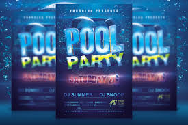Pool Party Invitation Template Template Business