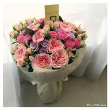<b>Roses</b>, spray <b>roses</b> and garden <b>roses</b>. <b>Bouquet</b> by Flour&Flower ...