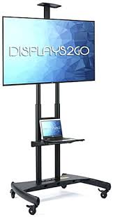 Flat Screen Display Stand Flat Panel Tv Stand With Wheels Large Flat Screen Stand Av Camera 69