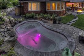Backyard hot tubs jacuzzi inground pools inground pools with hot