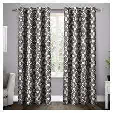 Living Room Curtains Target Gates Sateen Woven Room Darkening Grommet Top Window Curtain Panel