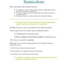 Semicolons And Colons Worksheets Semicolons And Colons Worksheet Semicolon Dot And Ma Vs Colon