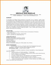 Sample Resume For Manual Testing Sample Qa Tester Resume For Banking Domain Best Best It Tester 52