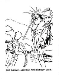 David And Goliath Coloring Page And Coloring Pages Bible Story A