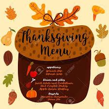 Thanksgiving Menu Invitation Design For A Thanksgiving Dinner