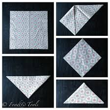 Paper Napkin Folding Flower How To Fold A Paper Napkin Into A Flower Bud Food And Tools