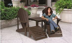 adirondack chairs. Recycled Plastic Adirondack 2-Chair Tete-A-Tete (Shown In Brown) Chairs