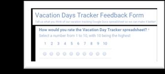 Vacation Days Tracker Spreadsheet Template Google Sheets