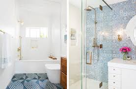 patterned tiles for small bathroom